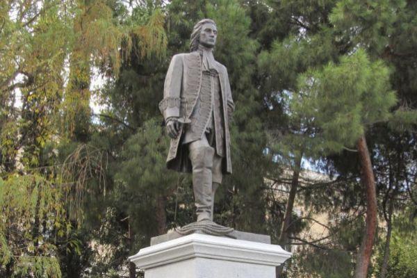 Estatua de Blas de Lezo en la plaza de Colon.