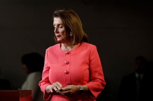 House Speaker Nancy Pelosi holds a weekly news conference on Capitol...