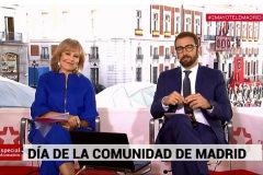 María Rey, durante la retransmisión de la celebración del 2 de mayo en Telemadrid.
