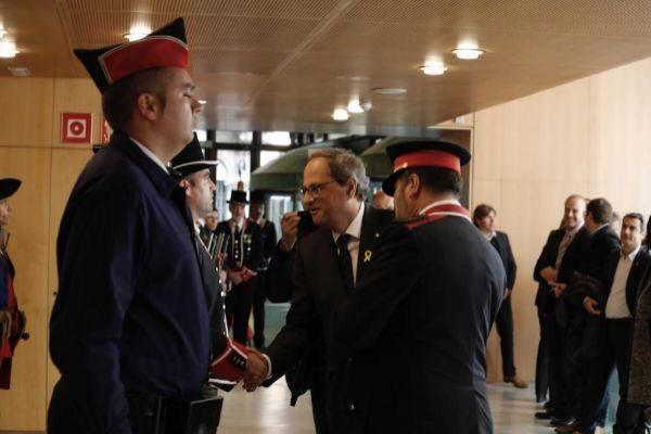 Barcelona, 29 de Abril de 2019 El presidente de la Generalitat Quim <HIT>Torra</HIT> ha participado en el acto del 300 aniversario de la fundación de los Mossos d'Esquadra, la policia autonómica catalana.