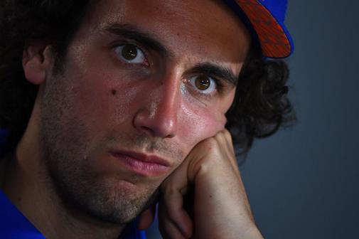 Álex Rins, este jueves en Jerez, en rueda de prensa.