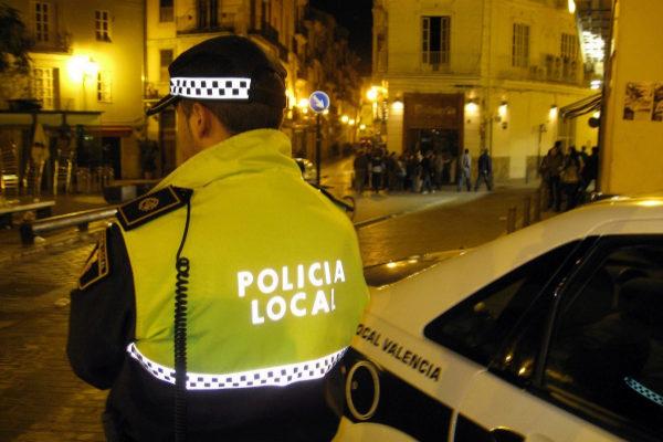 Un agente de la Policía Local de Valencia.