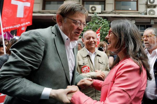 El presidente y la vicepresidenta de la Generalitat Valenciana, Ximo Puig, y Mónica Oltra.