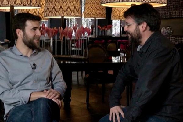Gonzo y Jordi Évole, en 'Salvados'.