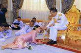 Ceremonia de la boda del rey de Tailandia Vajiralongkorn con Suthida...
