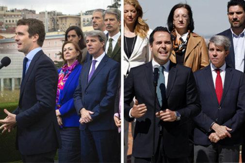Ángel Garrido con el PP el 1 de abril y con Cs el 3 de mayo.