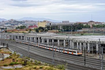 Construcción de la estación barcelonesa de Alta Velocidad de La Sagrera