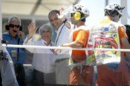 Francisco Camps y Bernie Ecclestone, durante un premio de F1 en Valencia.