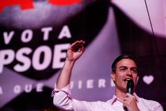 Pedro Sánchez, tras conocer los resultados electorales.