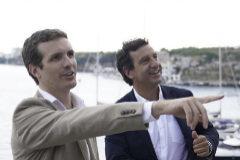Pablo Casado y Biel Company, en un acto del PP en Ibiza en campaña