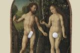 Fotomontaje a partir de la obra 'Adan y Eva' del pintor Jan Gossaert (siglo XVI)