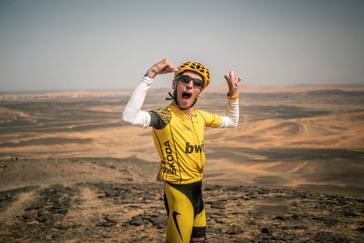 Alex Roca después de haber superado la Titán Desert 2019.
