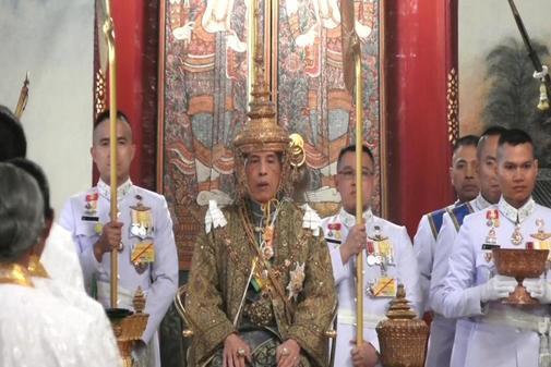 El Rey de Tailandia Maha Vajiralongkorn es coronado en en Bangkok, Tailandia.