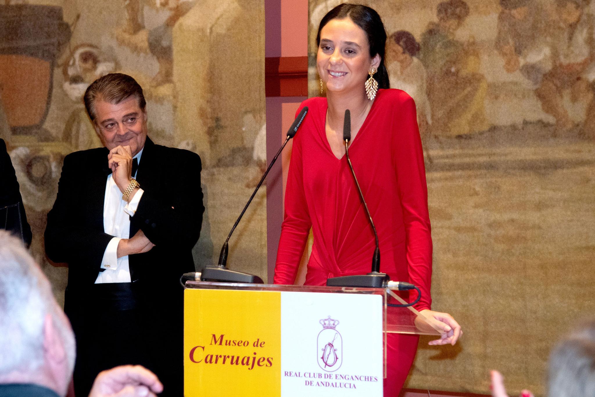 Victoria Federica de Marichalar y Borbón, como Madrina de Honor de la XXXIV Exhibición de Enganches de la Feria de Sevilla.