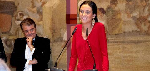 Victoria Federica de Marichalar y Borbón, como Madrina de Honor de la...