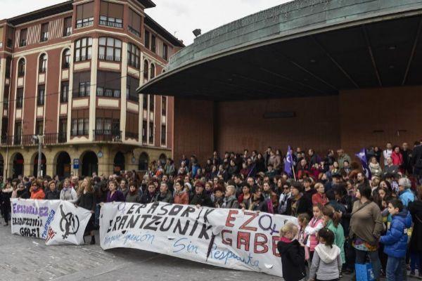 Movilización contra una agresión sexual anterior en Barakaldo