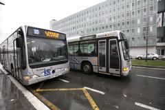 Autobuses del servicio municipal de Vitoria.