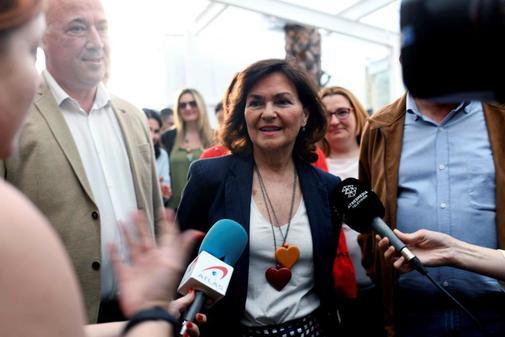 Carmen Calvo, en un acto el pasado miércoles en Córdoba