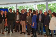 Alonso, junto a los candidatos a las Juntas Generales de Bizkaia.