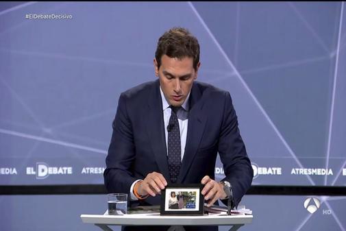 Rivera en el último debate electoral.