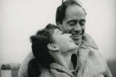 Audrey Hepburn y su esposo, Mel Ferrer, con quien se casó en 1954.