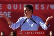 Pedro Sánchez, la semana pasada, antes de ganar las elecciones generales.