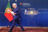 António Costa este viernes tras una rueda de prensa
