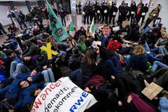 Estudiantes, en una protesta contra el cambio climático en Alemania.