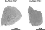 Dos de las partículas de 20 micras. A modo de comparación, un cabello humano mide entre 100 y 500 micras de diámetro