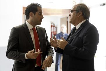 Ignacio Aguado (Cs) y Ángel Gabilondo (PSOE).