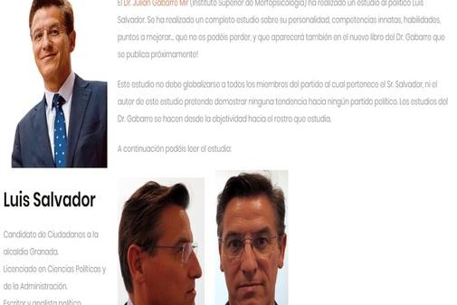 Imágenes y texto publicados en las redes sociales por Luis Salvador.