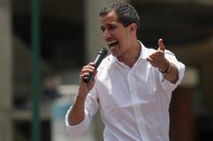 Juan Guaidó, en Caracas.
