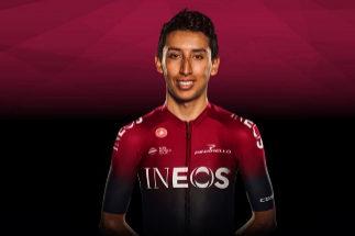 El ciclista colombiano del Team Ineos Egan Bernal