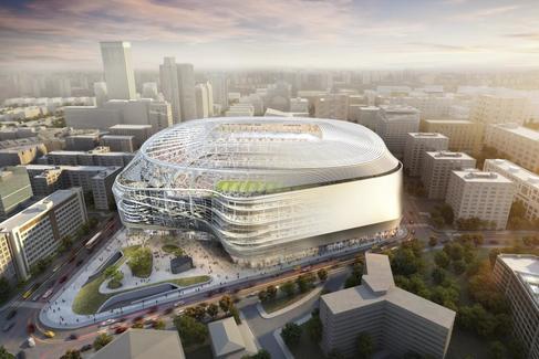 El campo del Real Madrid tras la reforma que empieza el mes de mayo.