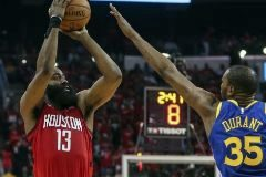 Un formidable Harden fulmina a los Warriors en la prórroga