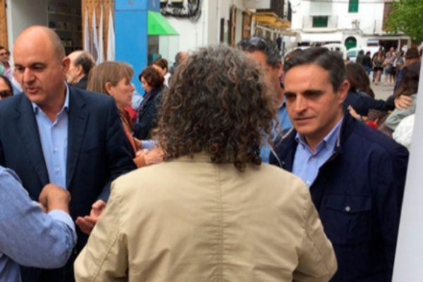 Los candidatos del PP, en Vila.