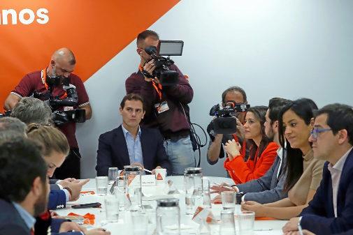 Albert Rivera preside la Ejecutiva de Ciudadanos tras las elecciones