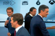 Los candidatos, en el debate de Atresmedia previo a las elecciones