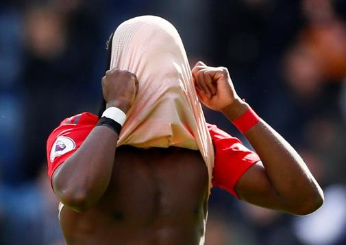 Pogba, durante el partido contra el Huddersfield.