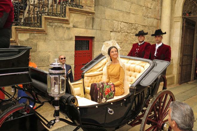 Victoria Federica entrando en La Maestranza
