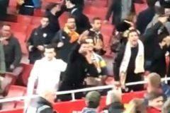 Fotograma del vídeo en el que se aprecia al seguidor del Valencia haciendo el saludo fascista.