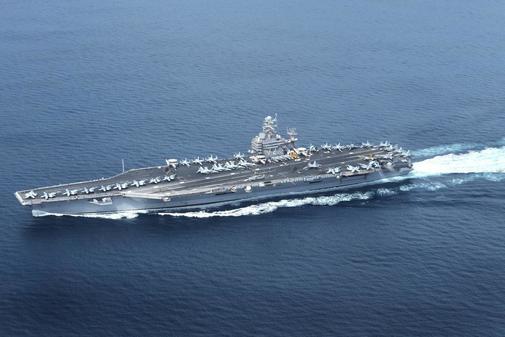 Foto de archivo de 2012 del portaaviones USS Abraham Lincoln.