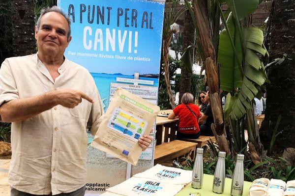 Aitor Morrás, se presentó ayer como candidato de Unidas Podemos al Ayuntamiento de Ibiza.