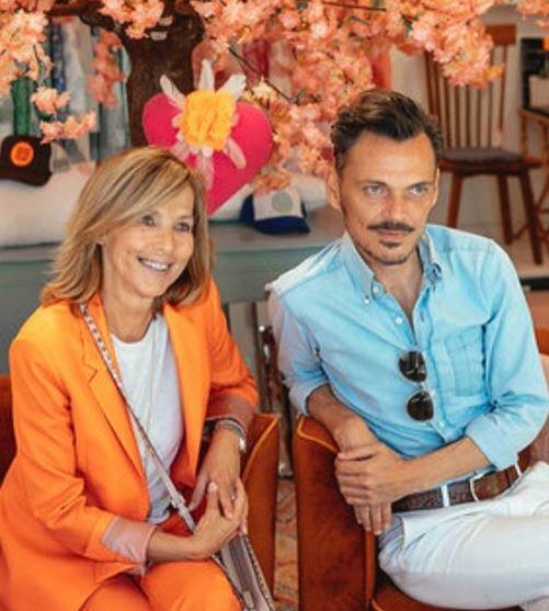 Christine Leja y Matthew Williamson, en la inauguración.