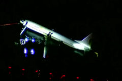 Un avión se sale de la pista y acaba en un río en Florida