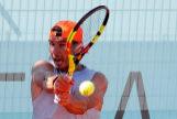 Rafa Nadal entrena en el Mutua Madrid Open 2019.