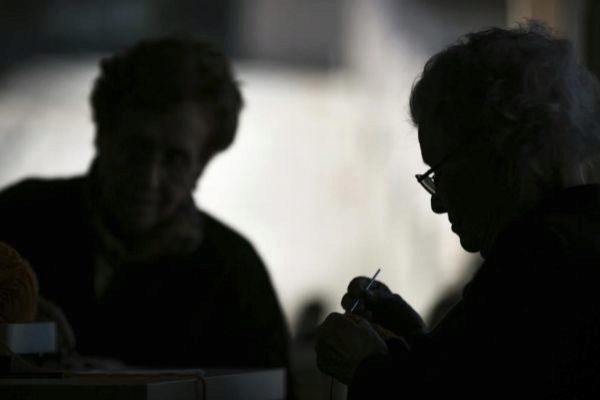 Ancianas en una residencia