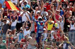 GRAF3990. <HIT>JEREZ</HIT> DE LA FRONTERA (CÁDIZ).- El piloto español de MotoGP Alex Rins (Team SUZUKI ECSTAR) celebra su segundo puesto en el Gran Premio de España disputado hoy en el circuito de <HIT>Jerez</HIT> de la Frontera.