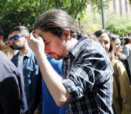 Pablo Iglesias, el pasado 1 de mayo, durante la manifestación del primero de mayo con motivo del Día Internacional del Trabajo.