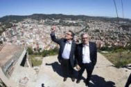 Artur Mas y Xavier Trias, durante la campaña de las municipales de 2015.